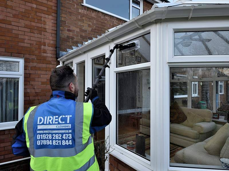 domestic window cleaning conservatory
