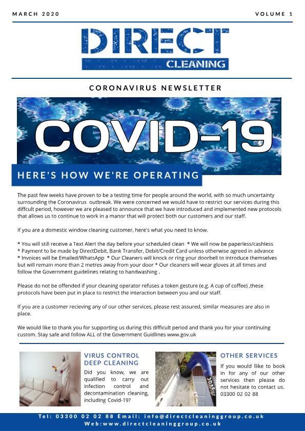 Covid-19 newsletter